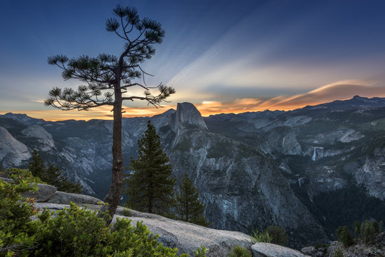 Sunrise at Half Dome, Yosemite