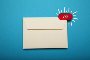 New inbox letter, mail envelope.