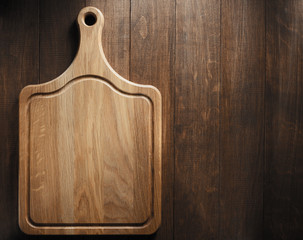 cutting board on wood
