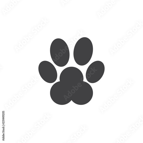 Animal Paw Vector Icon Filled Flat Sign For Mobile Concept And Web