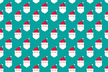 Merry Christmas pattern seamless collection. Santa Claus background. Endless texture for gift wrap, wallpaper, web banner background, wrapping paper and Fabric patterns.