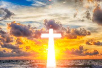 Glowing cross background