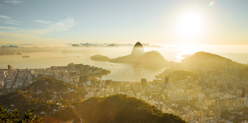 Wall Mural - Skyline of Rio de Janeiro with Sugarloaf mountain, Brazil