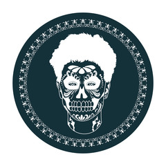 Handsome skull boy. Vector illustration of the logo which depicts a beautiful skull.