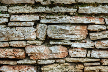Old stone wall close-up.