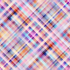 Seamless background. Geometric abstract diagonal plaid pattern in low poly pixel art style. Pastel colors. Vector image.