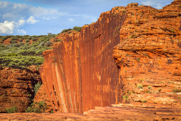 Vertical cliffs in Kings Canyon,  Central Australia, Northern Territory, Australia