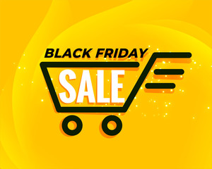 black friday shopping cart sale background