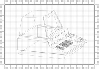 Retro Computer Architect blueprint