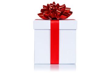 Geburtstag Weihnachten Geschenk Weihnachtsgeschenk Geburtstagsgeschenk Schachtel weiß Freisteller