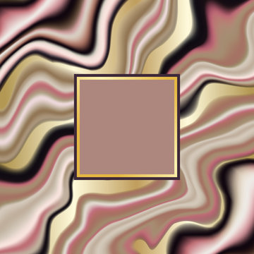 Luxury pink, beige and gold vector marbling background