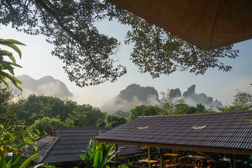 Travel Khao Sok National Park with jungle and Clouds