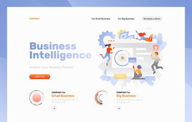 Business Intelligence Web Page