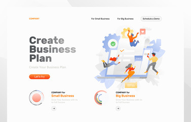 Creating Business Plan Web Page