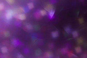 lens flare. colorful abstract. bokeh light on black background, decoration