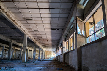 Abandoned factory interior in Romania, after the communist regim most of the factories  were abandoned.