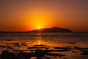 Nature seascape in Sharm-El-Sheikh, Egypt over Tiran island, Red sea, Saudi Arabia
