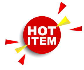red vector banner hot item