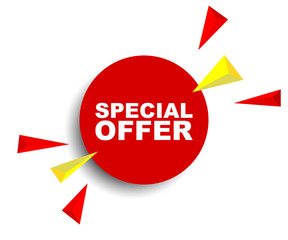 red vector banner special offer