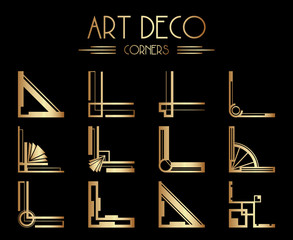 Geometric Gatsby Art Deco Corner or Frame Design