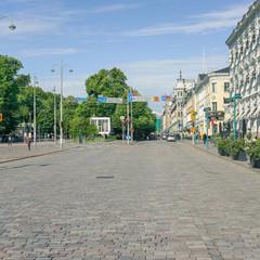 Innenstadt am Hafen von Helsinki