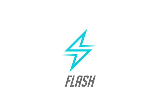 Flash Thunderbolt Energy Power Logo vector electricity battery