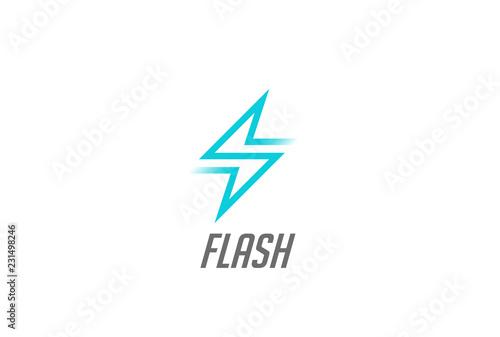 Flash Thunderbolt Energy Power Logo vector electricity