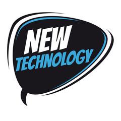 new technology retro speech bubble