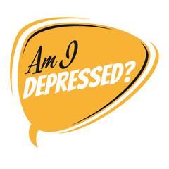 am i depressed retro speech balloon