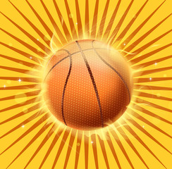 basketball fire icon