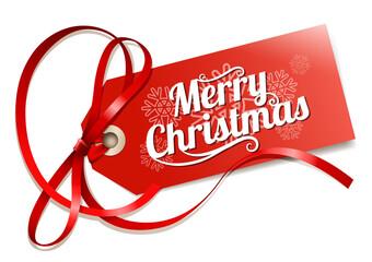 ornate christmas tag
