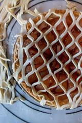 Making fancy pie dough lattice work for pie crust top
