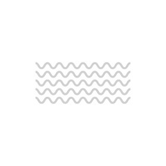 Wave icon vector . Vector abstract background