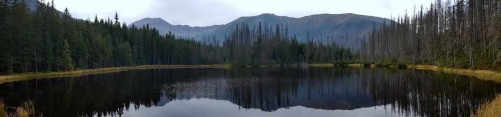 Fototapeta Polodowcowe jezioro morenowe w polskich Tatrach Zachodnich na końcu Doliny Kościeliska, Smreczyński Staw
