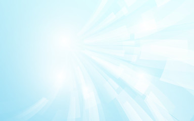 Abstract white and blue modern square shape with Futuristic concept background