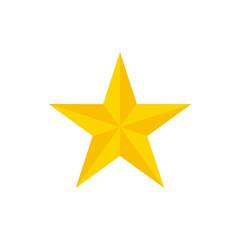 Christmas star vector. Golden star