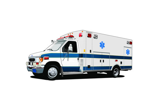 vector paramedic ambulance emergency medical vehicle