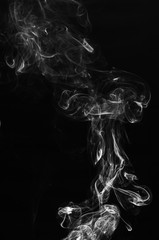 abstract white gray smoke in dark background.