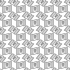 Seamless pattern hand drawn gps map. Doodle black sketch. Sign symbol. Decoration element. Isolated on white background. Flat design. Vector illustration