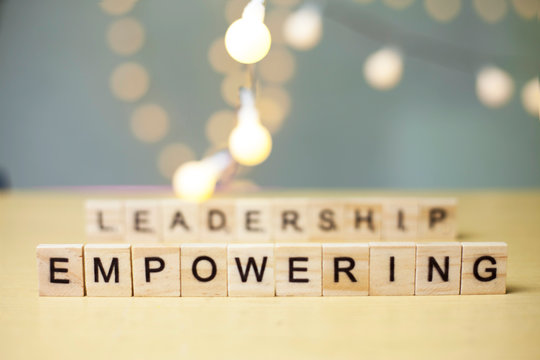 Leadership Empowering, Business Words Quotes Concept