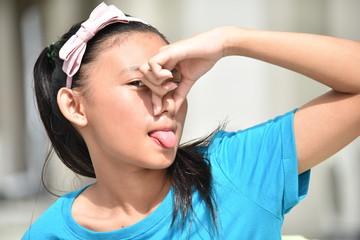 Stinky Cute Filipina Girl Youth