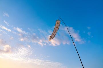 Lanna Chiang Mai Thailand Flag Flow on blue sky background