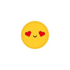 Smile emoji. Vector icon illustration Flat design