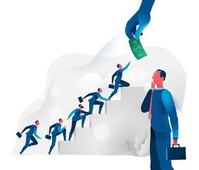 Sales force climbs the stairs of success