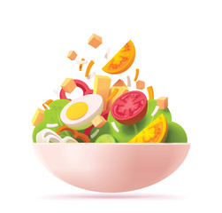 Vector green salad icon