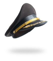Police hat on a white background