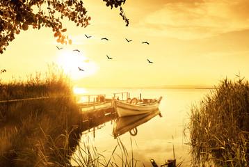 Foto op Plexiglas Zwavel geel paisaje vintage de un paraje natural en España