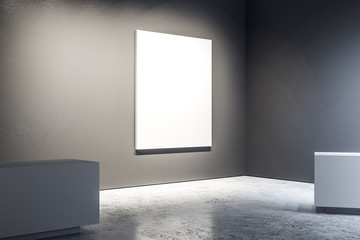 Gallery with empty poster