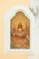 Presicce, Apulia - An old religious drawing in the streets of Presicce