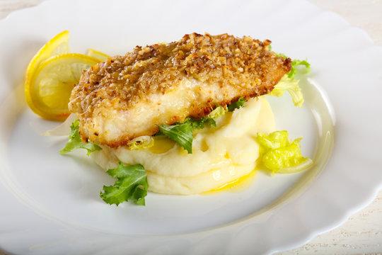 Cod fish with mashed potato